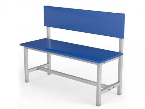 Скамейка для раздевалки со спинкой односторонняя ТМБ-Р2ЛДСП (настил ЛДСП)