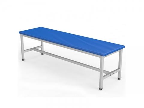 Скамейка для раздевалки без спинки мягкая ТМБ-Р1М