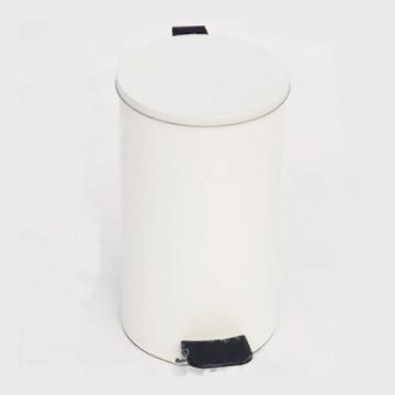 Урна с педалью 10 литров Белая
