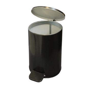 Урна с педалью 10 литров Черная, белая