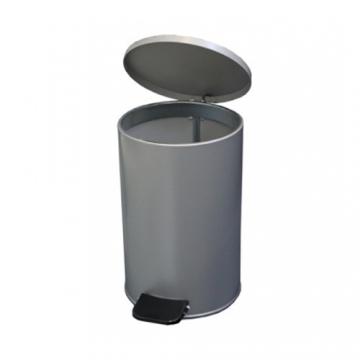 Урна с педалью 10 литров Серый металлик
