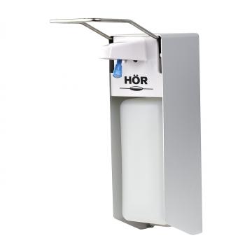 Дозатор локтевой HOR-X-2268S для мыла, дезсредств, антисептика (1000 мл) металлический
