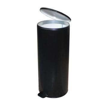 Урна с педалью (50 л) Черная, серая, белая