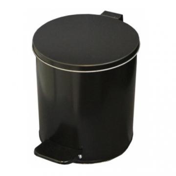 Урна с педалью 7 литров Черная