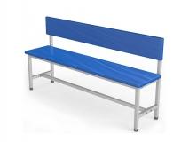 Скамейка для раздевалки со спинкой мягкая ТМБ-Р2М