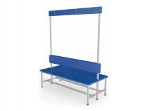 Скамейка для раздевалки с вешалкой двухсторонняя мягкая ТМБ-Р5М