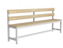 Скамейка для раздевалки со спинкой разборная ТМБ-Р2