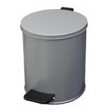 Урна с педалью 7 литров Серый металлик