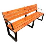 Скамейка со спинкой и подлокотником 450*2000*850