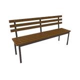Скамейка со спинкой 450*2000*800