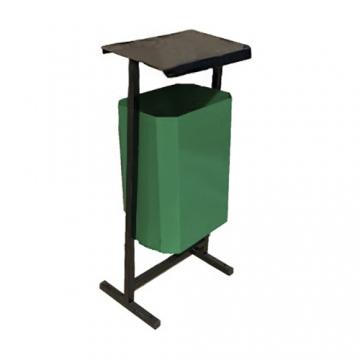 Урна уличная для мусора с крышкой ТМБ-50 без пепельницы (зеленая)