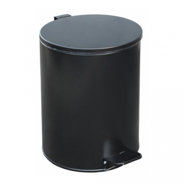 Урна с педалью (15 л) Черная